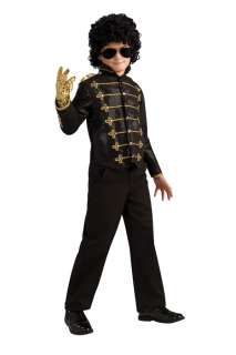 Michael Jackson Deluxe Black Military Jacket Child Costume for