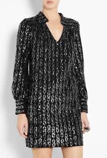 Milly  Black Kelli Plunge Mini Dress by Milly