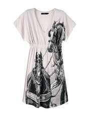 Horse Print Jersey Dress by Thomas Burberry   White   Buy Dresses