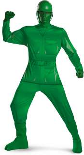 Toy Story   Green Army Man Deluxe Plus Adult Costume   Includes