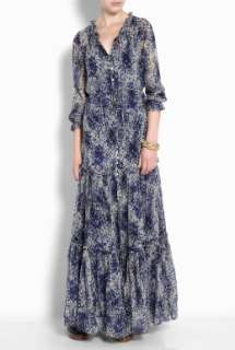 Elizabeth and James  Marylin Speckled Chiffon Maxi Dress by Elizabeth