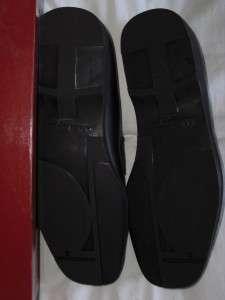 New SALVATORE FERRAGAMO Mens BLACK shoes Mocs 10 9.5