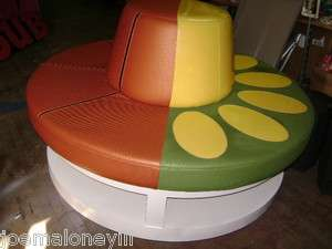 ROUND OTTOMAN ROUND BENCH JUMBO EXTRA LARGE 52 SEATING W/ STORAGE