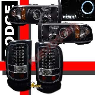 1500 2500 3500 HALO PROJECTOR HEADLIGHTS CORNER+ LED TAIL LIGHTS BLACK