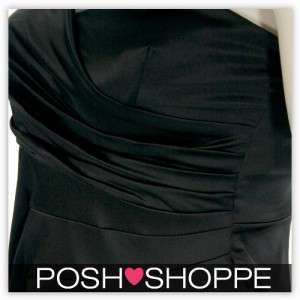 Womens Plus Size Clothing Dress Satin Rose Formal OneShoulder Sexy US