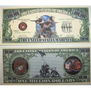 Set of 10 Bills US Marines Million Dollar Bill Toys & Games