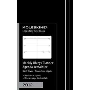 Moleskine 2012 12 Month Weekly Planner Horizontal Black