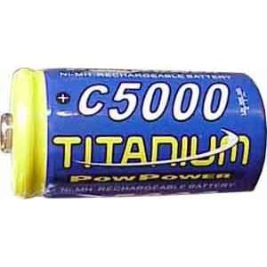 Titanium C Size 5000 mAh Ni MH rechargeable battery