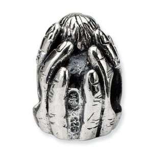925 Sterling Silver Hand Newborn Baby Child Charm Bead Jewelry