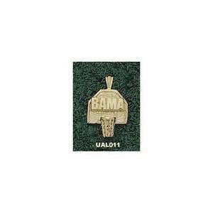 Alabama Crimson Tide Bama Basketball Backboard Pendant   10KT Gold