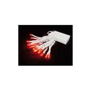 Battery Operated Red LED Wide Angle Christmas Lights   Patio, Lawn