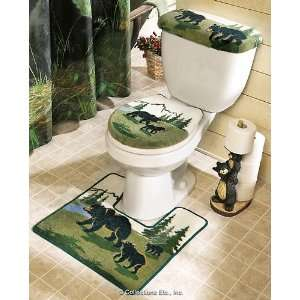 Northwoods Bear Toilet Rug and Bath Mats Everything Else