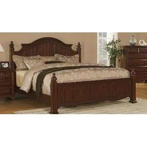 58H Duncan Brown Mahogany Queen Size Bed Frame