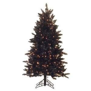 Black Ashley Spruce 54 Artificial Slim Christmas Tree