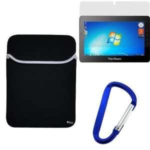 Neoprene Sleeve Case + Clear LCD Screen Protector Film + Blue