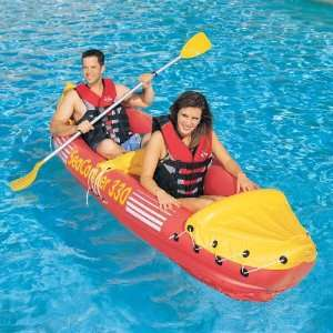 Inflatable SeaComber Canoe Kayak Boat TWO Persons Sports