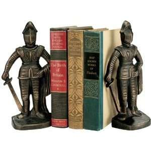 Xoticbrands 9 Bronze Finish Medieval Knight Sculpture Statue