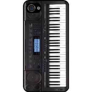 Electric Keyboard Rubber Black iphone Case (with bumper) Cover