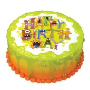 Lucks Edible Image Monster Birthday, 1 ea  Grocery