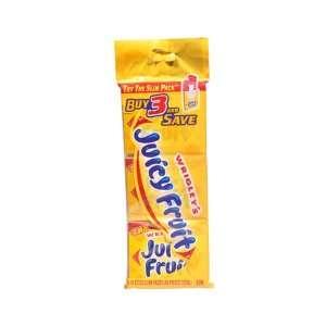 Juicy Fruit Chewing Gum Slim Pack 15 Sticks   20 Pack