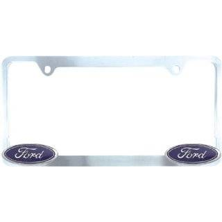 Bully WL021 C Ford License Plate Frame   Chrome Automotive