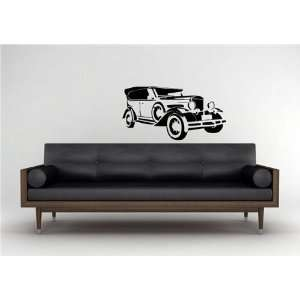 Wall Vinyl Sticker Decal Mural Classic Old Car Hot Rod
