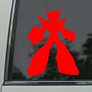 Mega Man Red Decal Classic Car Truck Bumper Window Red