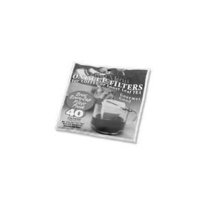 Unbleached Coffee & Tea Disposable 1 Cup Filters  40 ct
