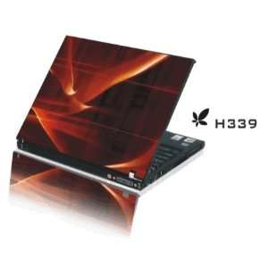 15.4 Laptop Notebook Skins Sticker Cover H339 Orange Red