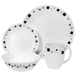 Corelle 16 Piece Dinnerware Set Geometric Kitchen