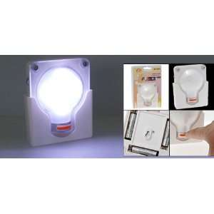 Bulb Shaped Night Light Lamp White with Wall Mount