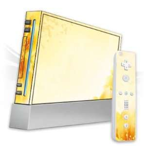 Design Skins for Nintendo Wii   Yellow Flowers Design