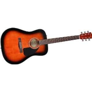 Fender Cd 60 Dreadnought Acoustic Guitar Sunburst Musical