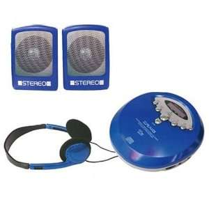 60 Second Portable CD Player with Speakers   Blue  Toys & Games