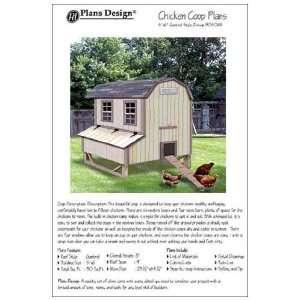 x6 Chicken Coop / Hen House Plans, Gambrel / Barn Roof Style (How