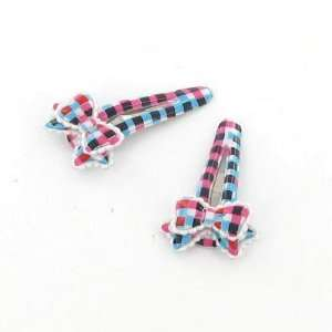 Blue and Red / Toddler/Girl/Teenager Bow Shaped Hair Clip