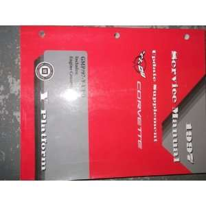 Corvette Service Repair Shop Manual ENGINE OEM SUPPLEMENT gm Books