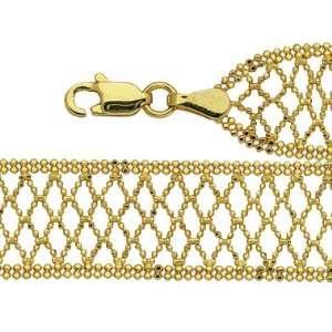 14k Yellow Gold Charm Bracelet, 7.25 Masterpiece Jewels