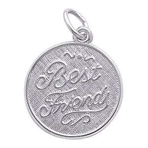 Rembrandt Charms Best Friends Charm, 14K White Gold Jewelry