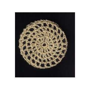 Beige Classic Crocheted Hair Bun Cover  Large: Everything Else
