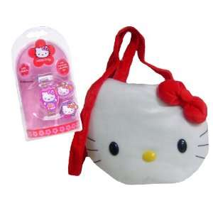 Cuddly Hello Kitty Plush Shoulder Bag & LCD Watch Toys & Games