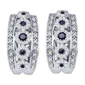 Fashion Style 10k White Gold (3/4 Carat) Jewel Roses Jewelry