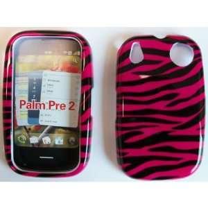 PALM PRE 2 BLACK / HOT PINK ZEBRA CASE Cell Phones