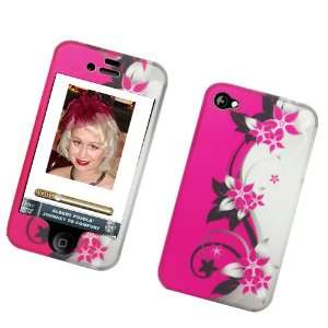 Image Protector Case HOT Pink/silver Vines: Cell Phones & Accessories