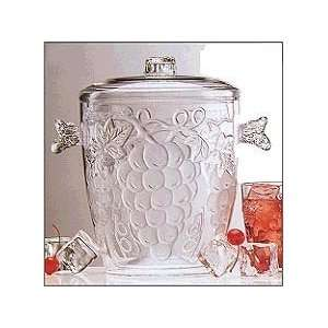Embossed 3 1/2 Quart Ice Bucket with Lid:  Kitchen & Dining