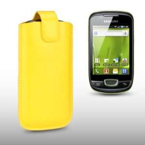 SAMSUNG GALAXY MINI S5570 YELLOW PU LEATHER CASE, BY
