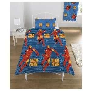 Iron Man Duvet, Twin Single Bed, Kids Boys Room Bedding  Toys & Games