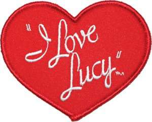 Love Lucy Classic Heart Logo Iron On Embroidered Patch: Clothing