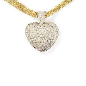 14kt. White Gold Diamond Heart Pendant Jewelry
