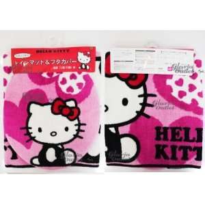 Hello Kitty Toilet Seat Cover and Floor Mat